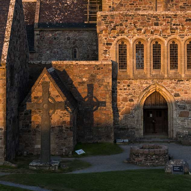 Sunset Iona Abbey