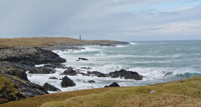 Butt of Lewis coast and lighthouse