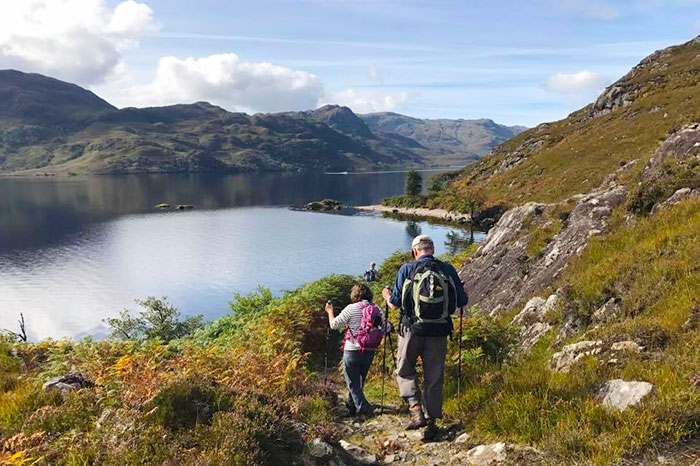 Hiking along Loch Morar