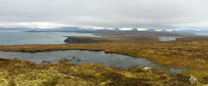 Assynt mountains from Stoer