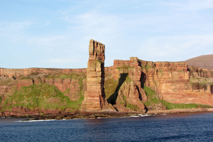The Old Man of Hoy sea stack from the ferry