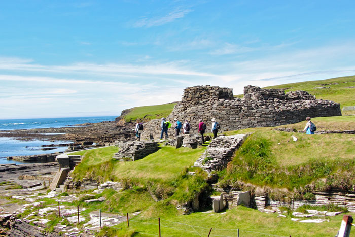 Orkney walking tour, hiking on Rousay