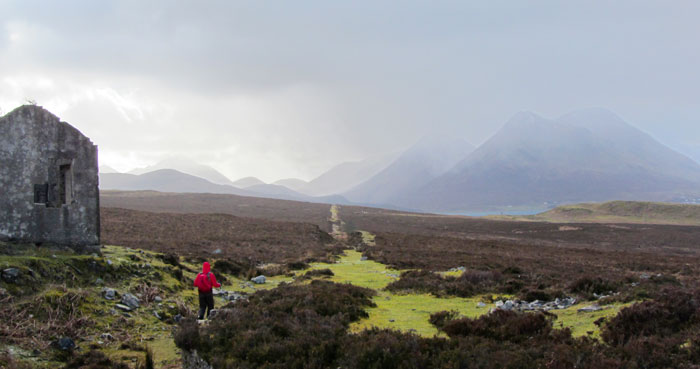 Hiking along the disused railway on Raasay