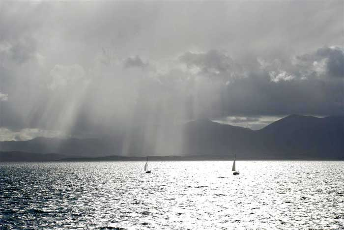 Sunshine and showers on Mull